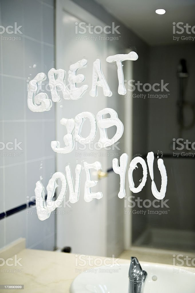 Love note after hot night. royalty-free stock photo
