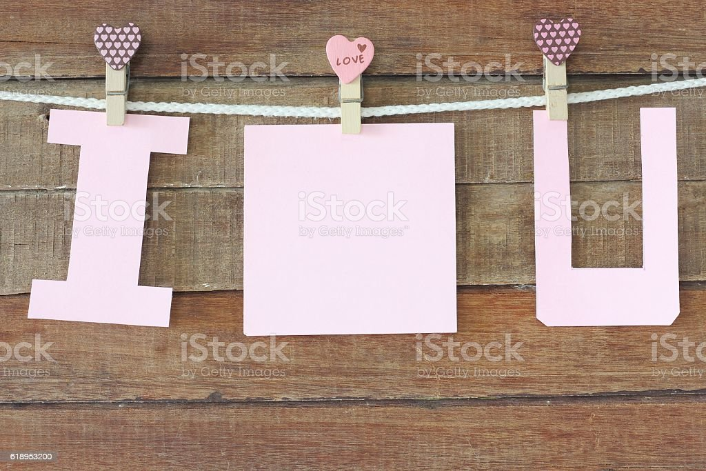 love note paper stock photo