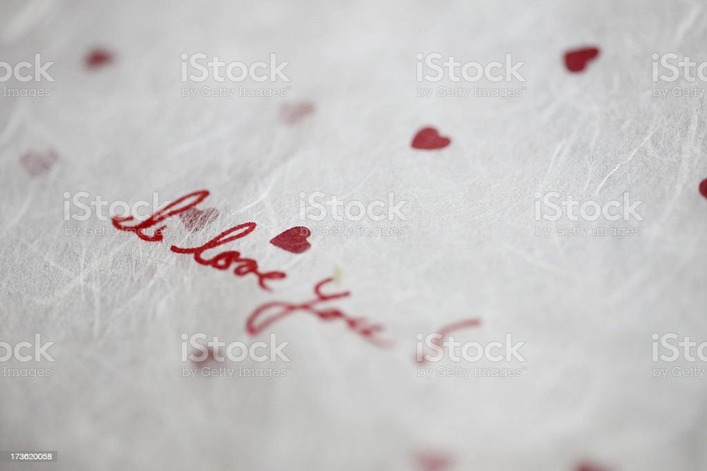 Love Note royalty-free stock photo