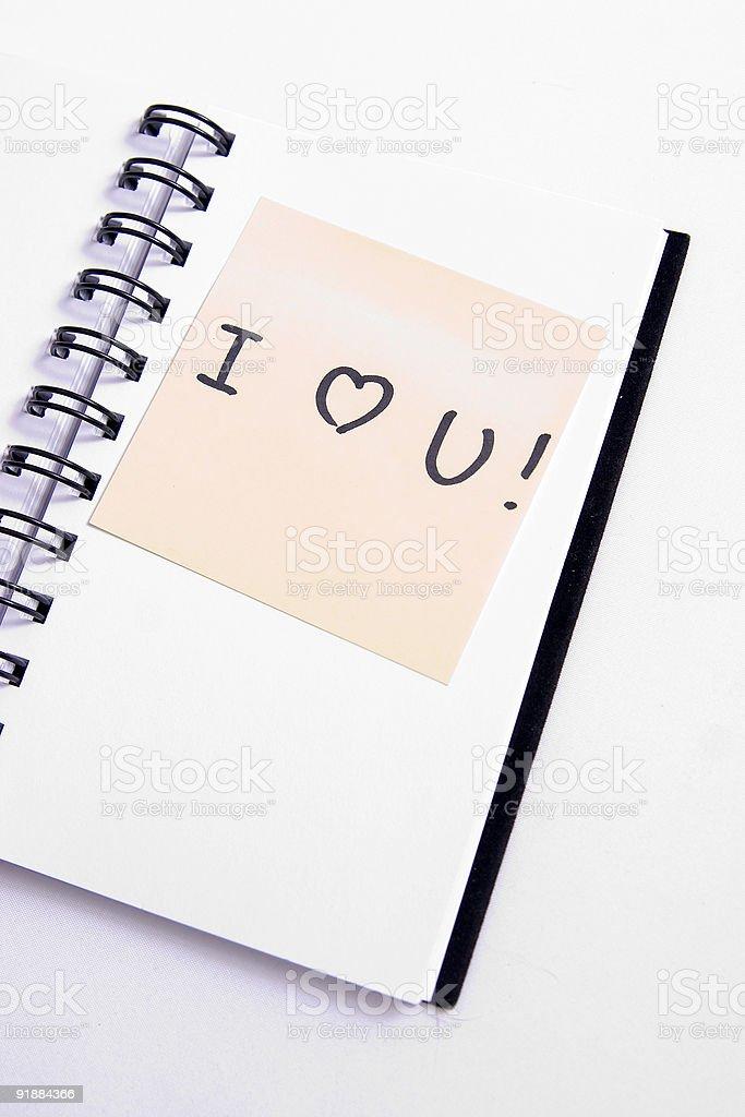 Love Note stock photo