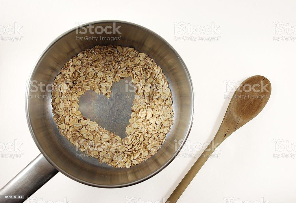 I love oatmeal royalty-free stock photo