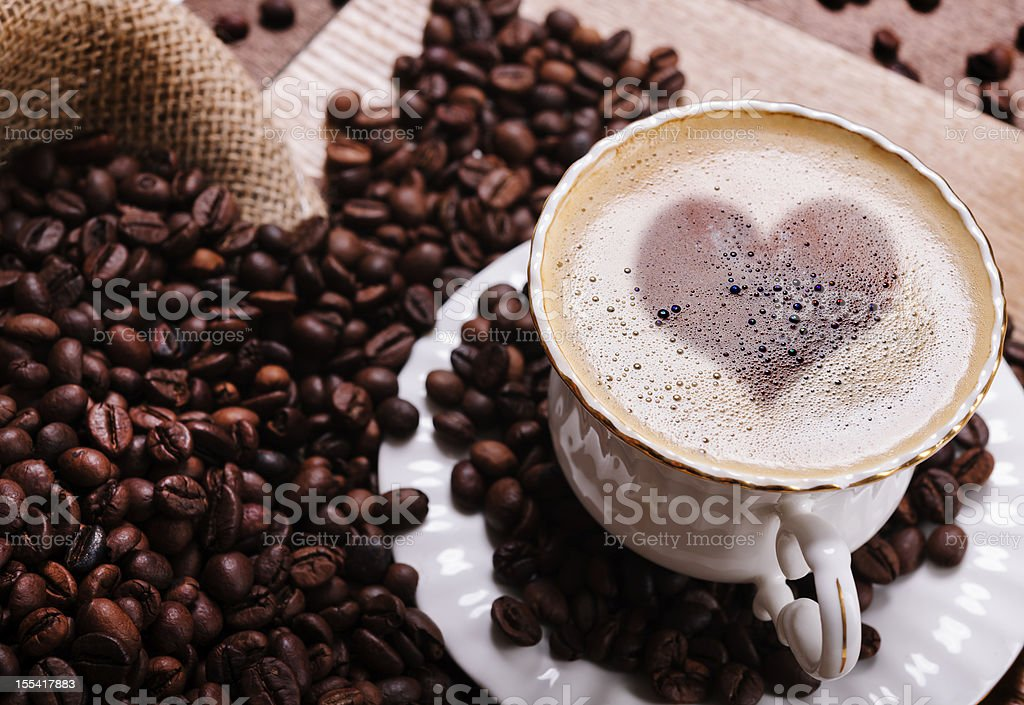 love of coffee royalty-free stock photo