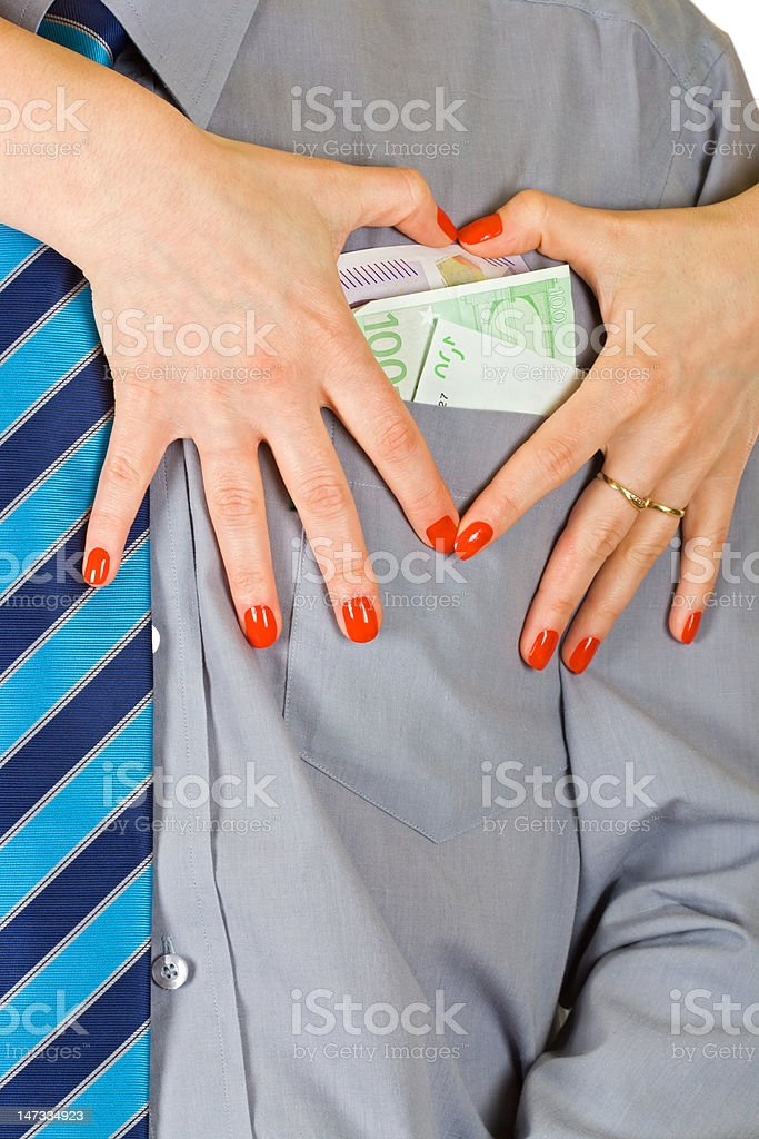 Love of money royalty-free stock photo