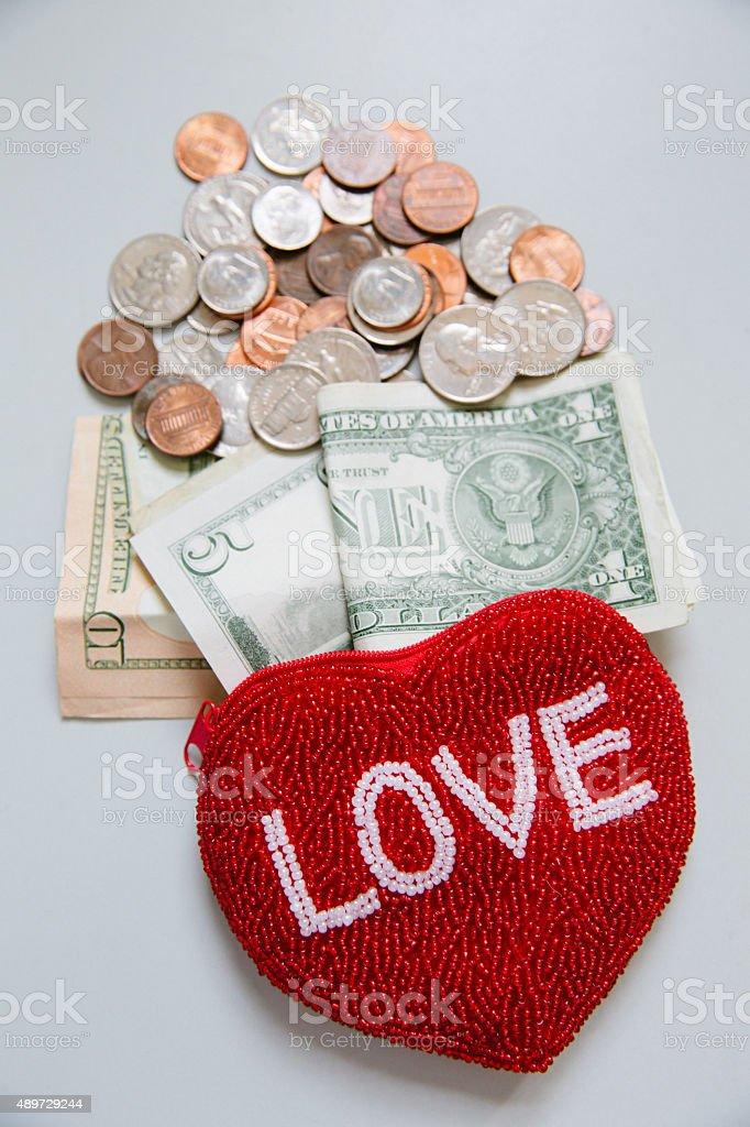Love of Money stock photo