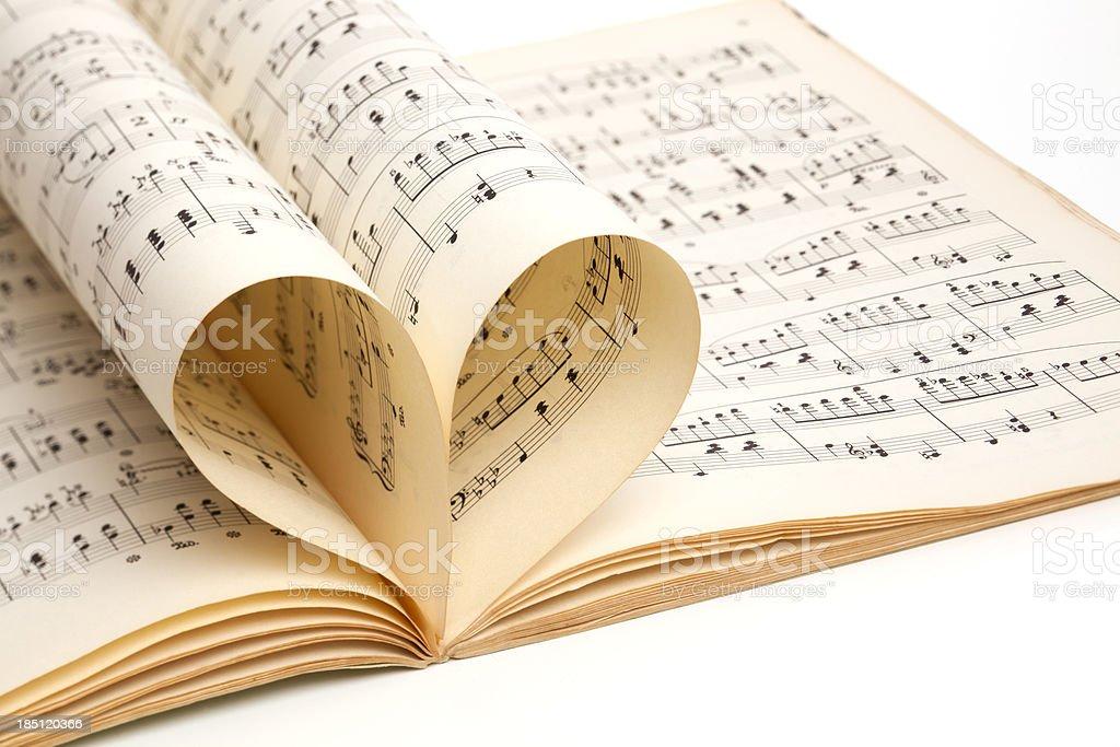 love of music, old score sheet stock photo