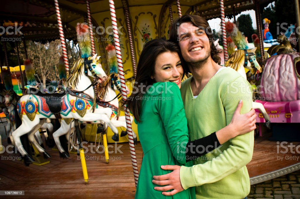 Love on a Merry-Go-Round royalty-free stock photo