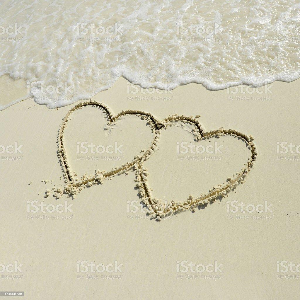 Love On Beach royalty-free stock photo