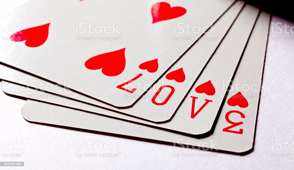 Love on Cards stock photo