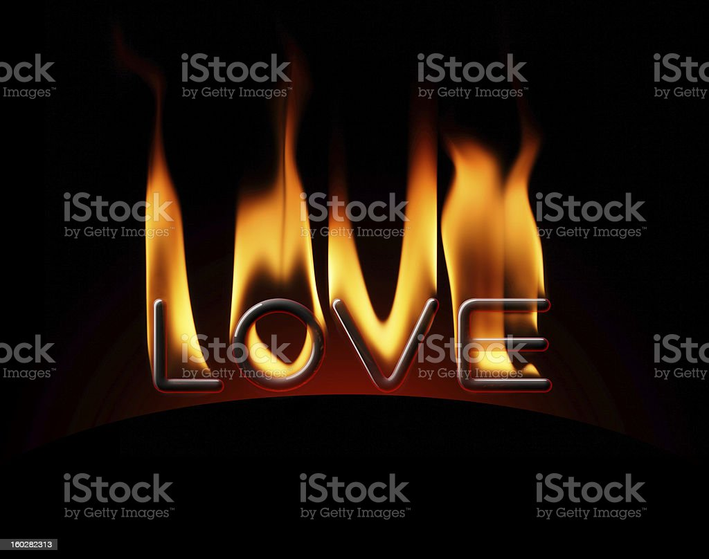 love on fire royalty-free stock photo