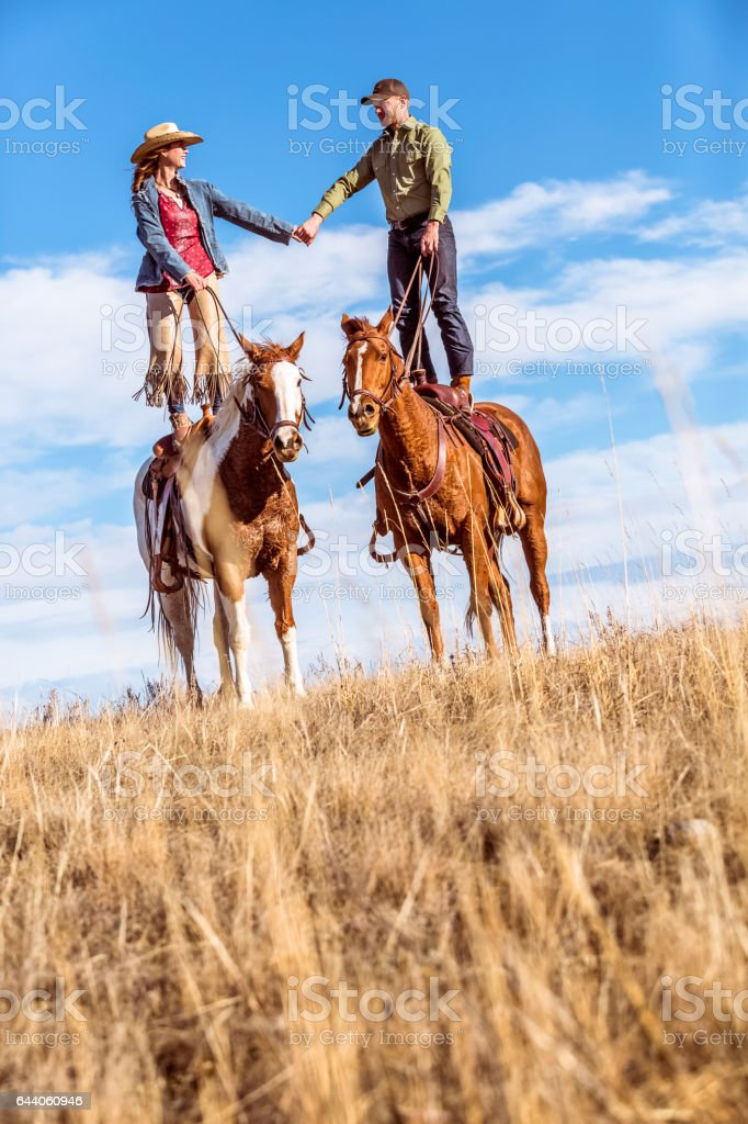 Love On HorseBack stock photo