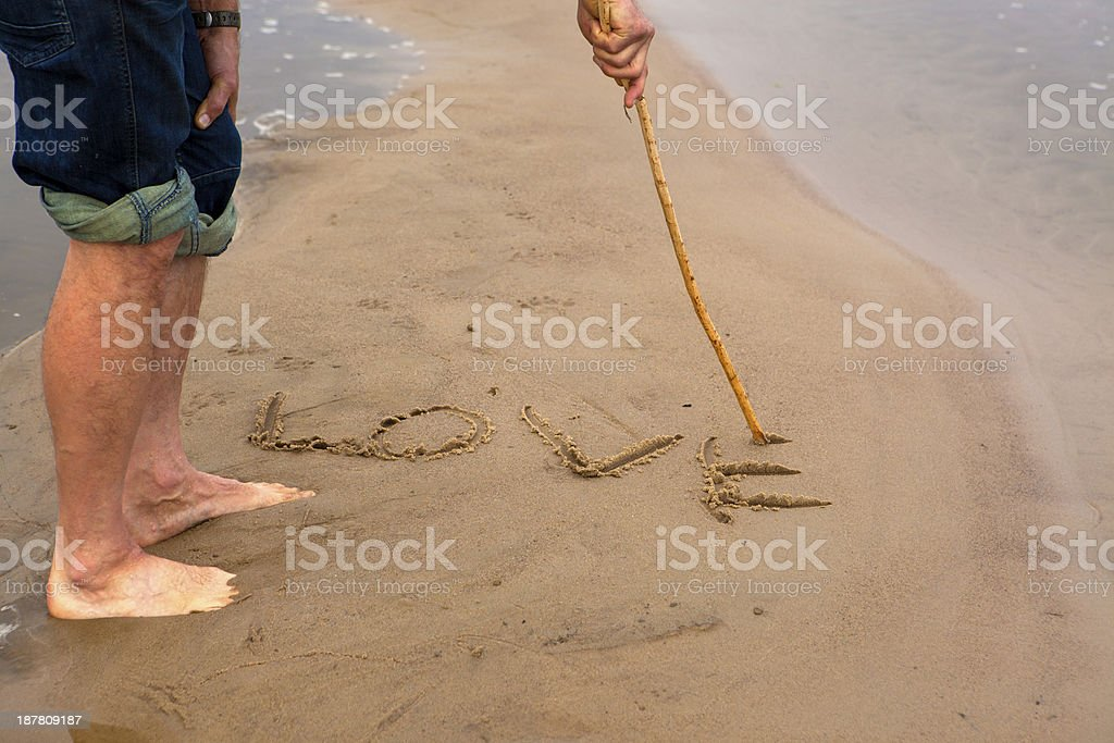 Love on sand royalty-free stock photo