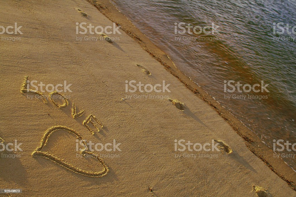 Love on the beach 2 stock photo