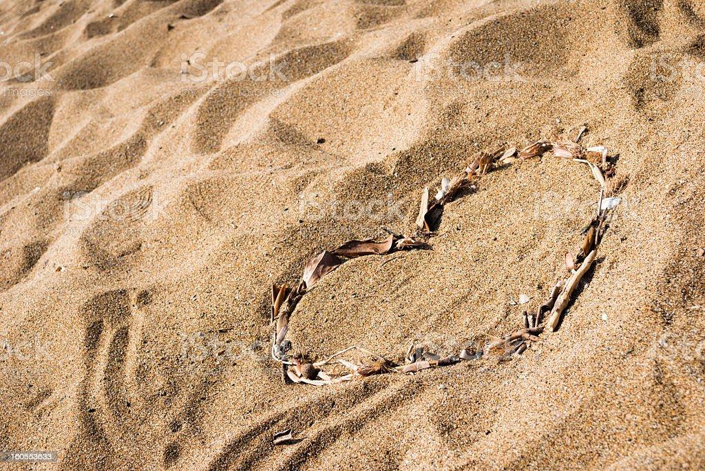 Love on the beach stock photo