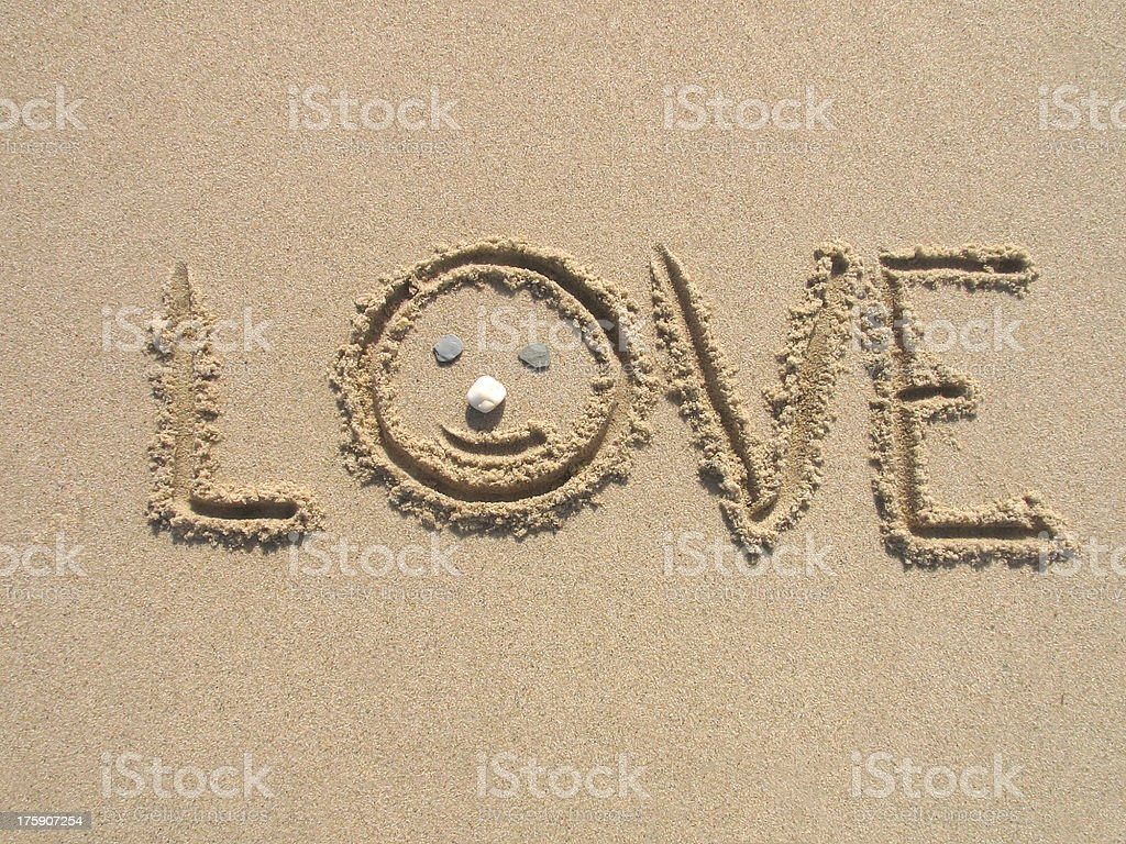 Love on the beach royalty-free stock photo
