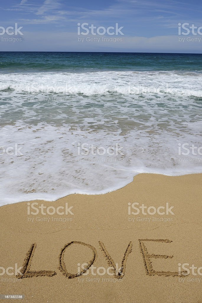 Love on the beach stock photo