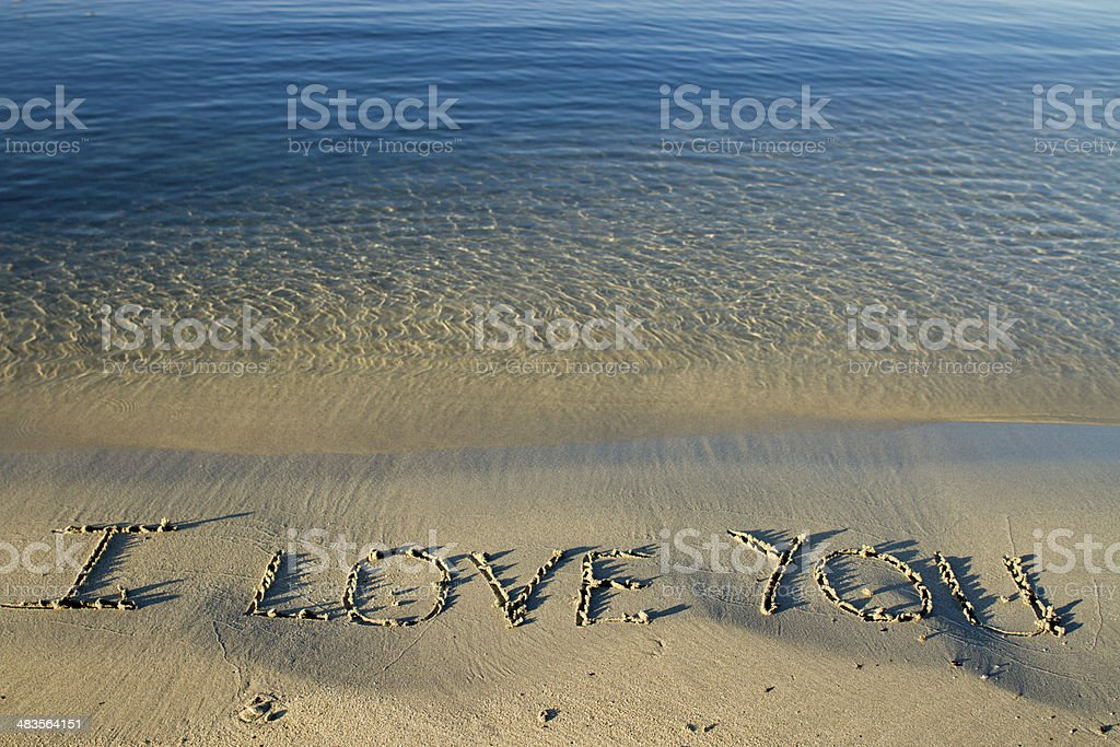 Love On The Beach With Darling In Summer stock photo