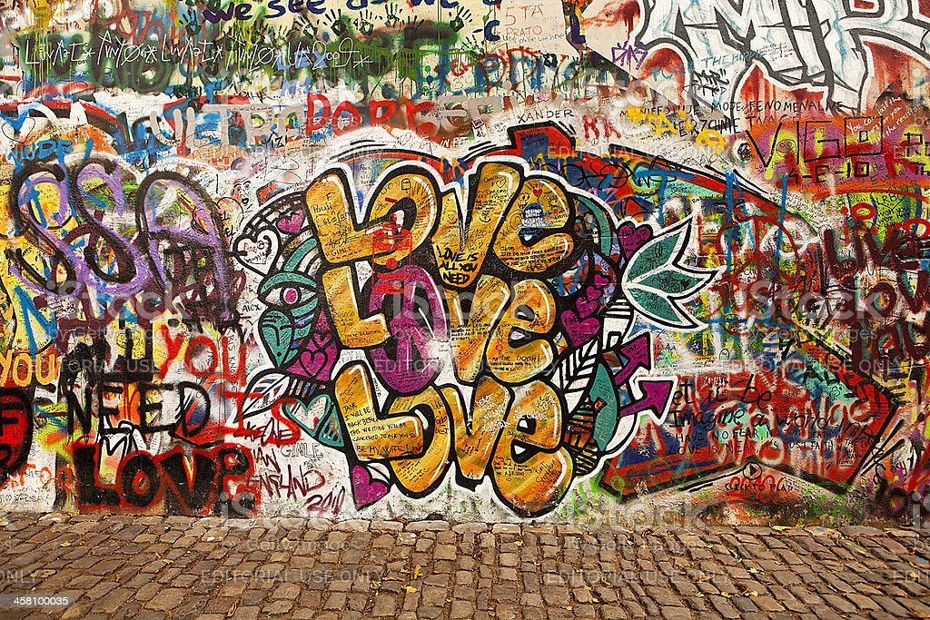 Love On The Lennon Wall stock photo