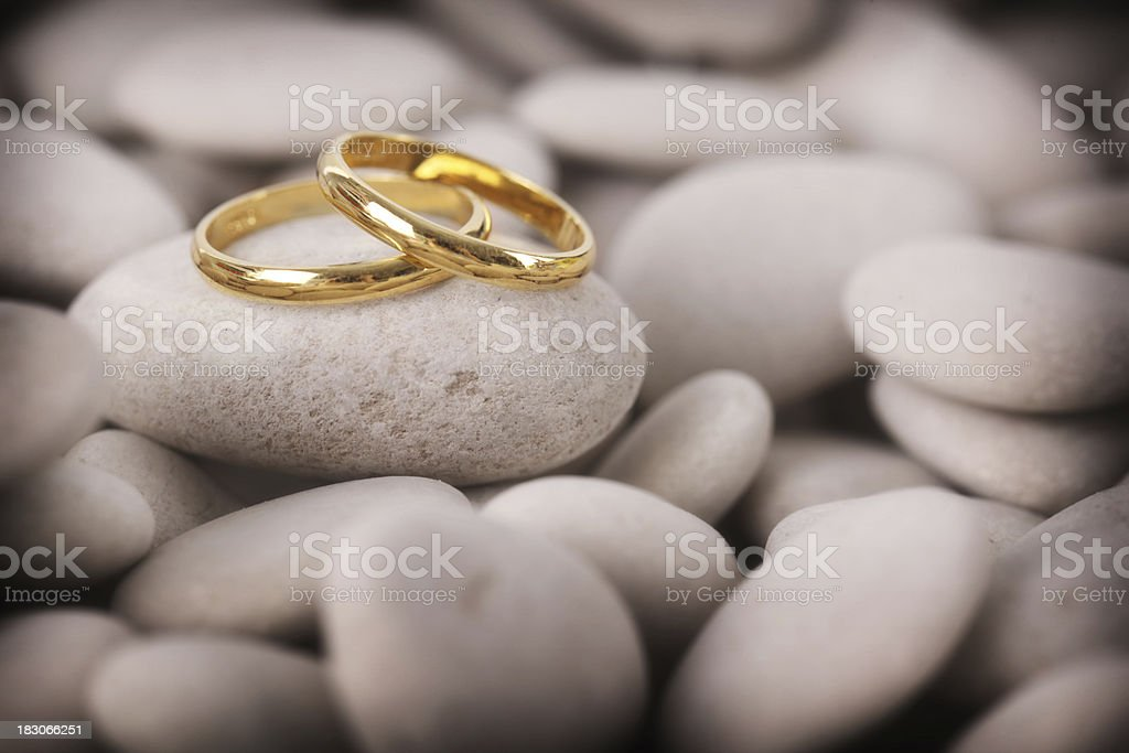 Love on the River Stones royalty-free stock photo