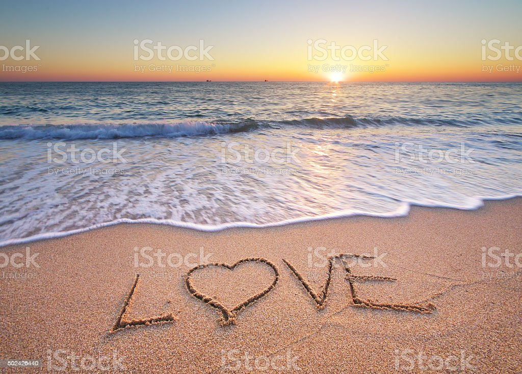 Love on the sea stock photo