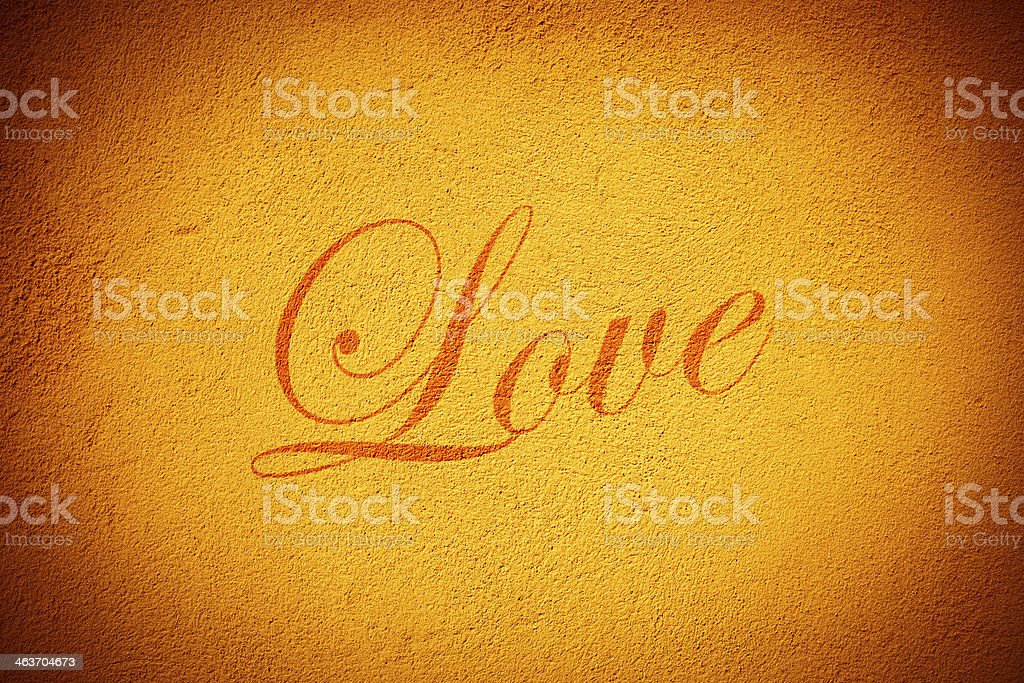 Love on the wall royalty-free stock photo