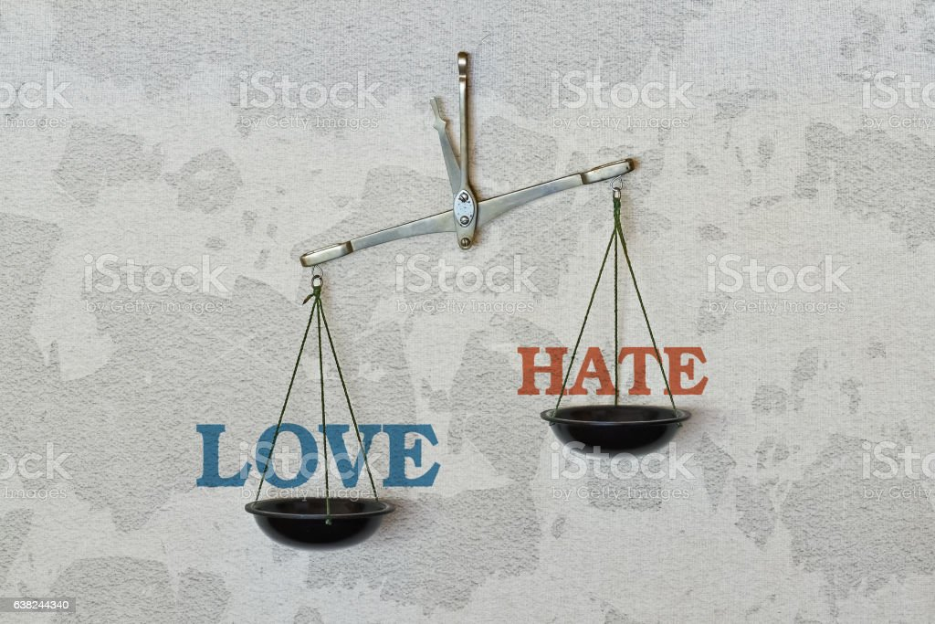 Love or hate stock photo