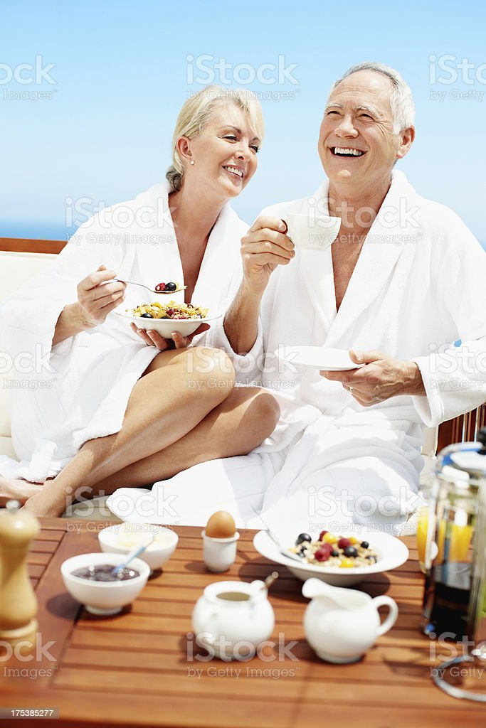 I love our mornings together royalty-free stock photo