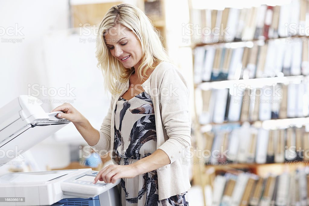 I love our new office equipment stock photo
