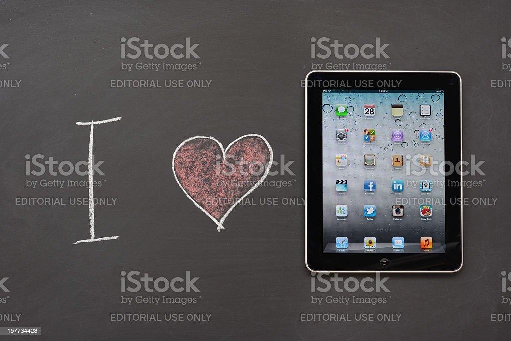 I love İpad royalty-free stock photo
