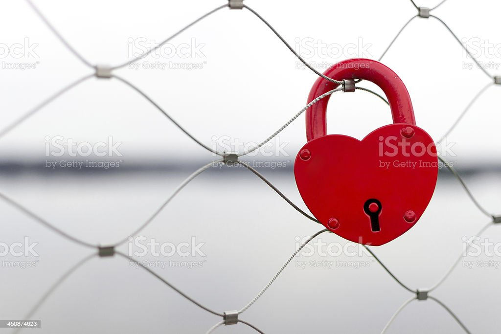 Love padlock stock photo