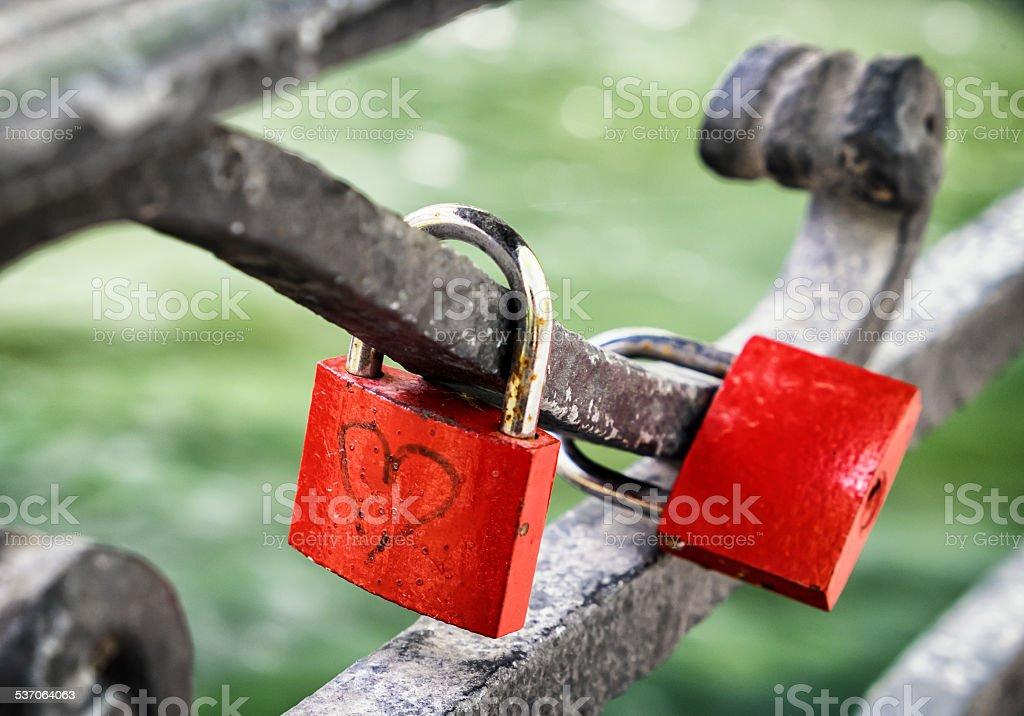 love padlock stock photo