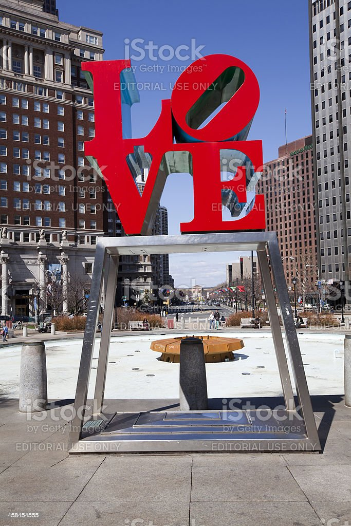 Love Park Philadelphia Pennsylvania royalty-free stock photo