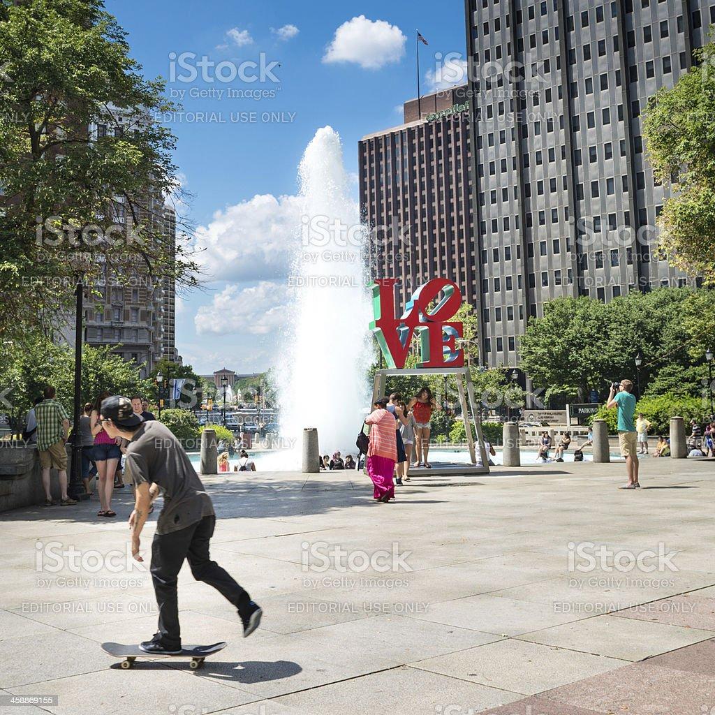 Love Park Philadelphia royalty-free stock photo