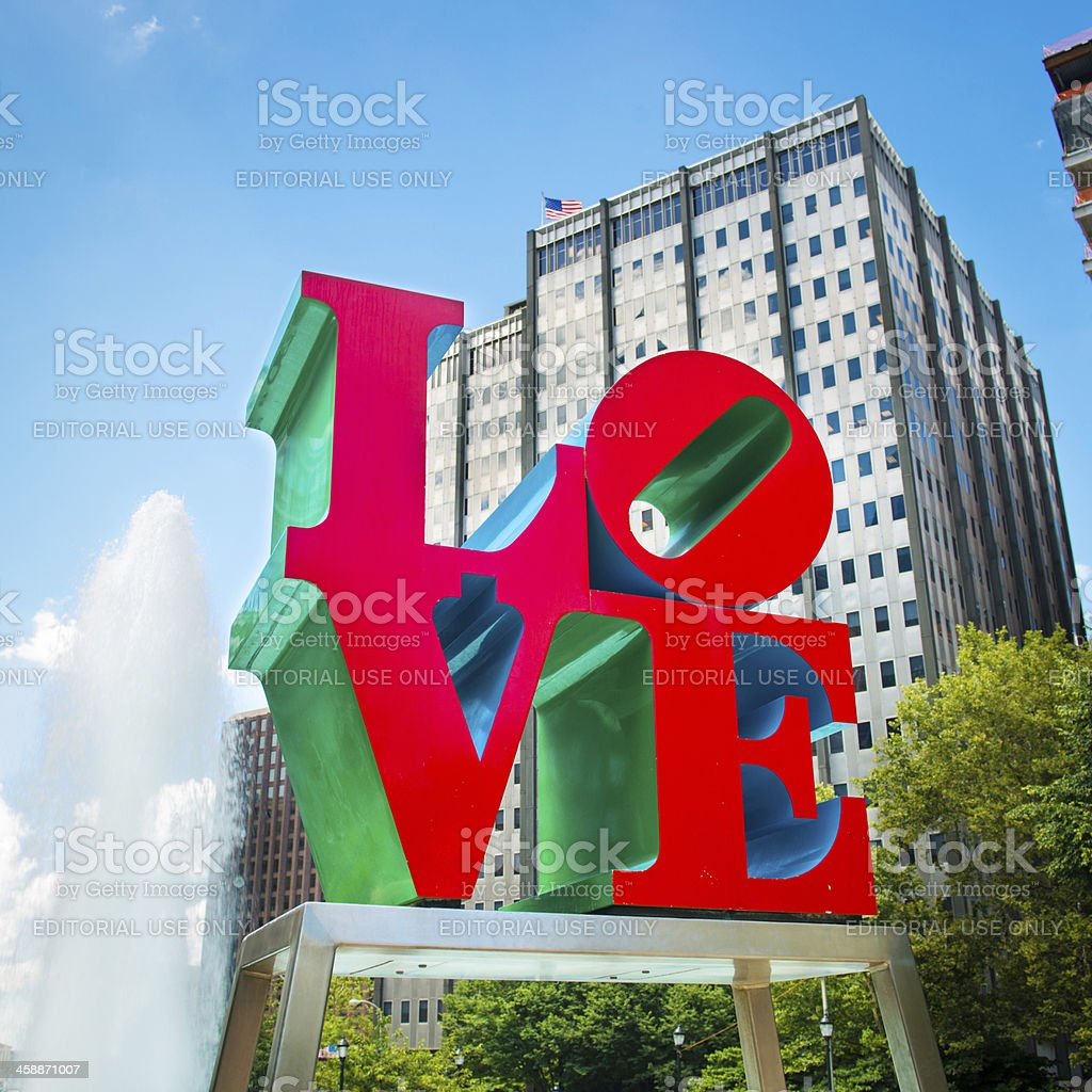 Love Park Philadelphia stock photo