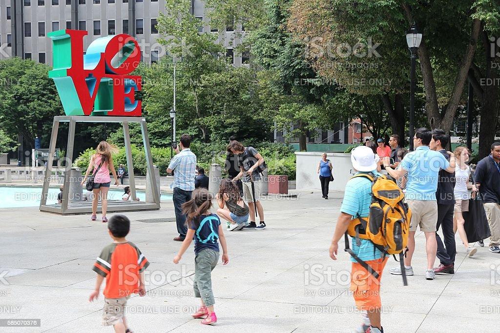Love, Philadelphia stock photo