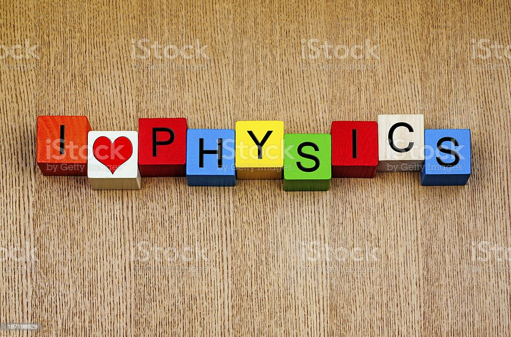 I Love Physics - sign for education and knowledge royalty-free stock photo