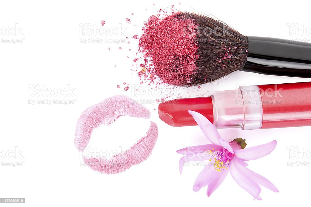 I love pink make up. royalty-free stock photo