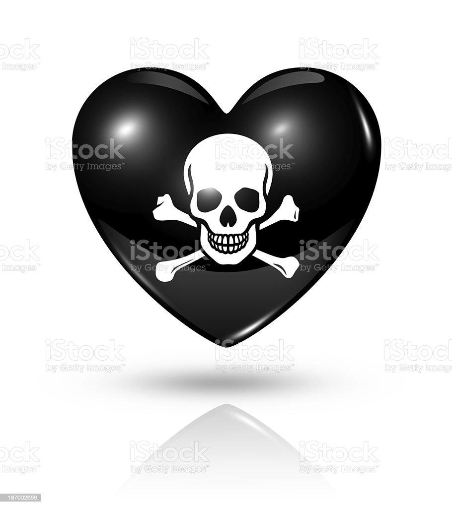 Love pirate, heart icon stock photo