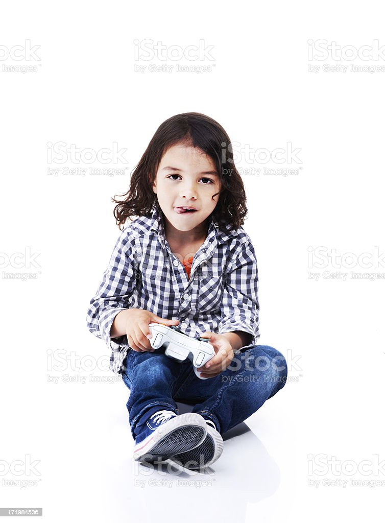 I love playing games! royalty-free stock photo