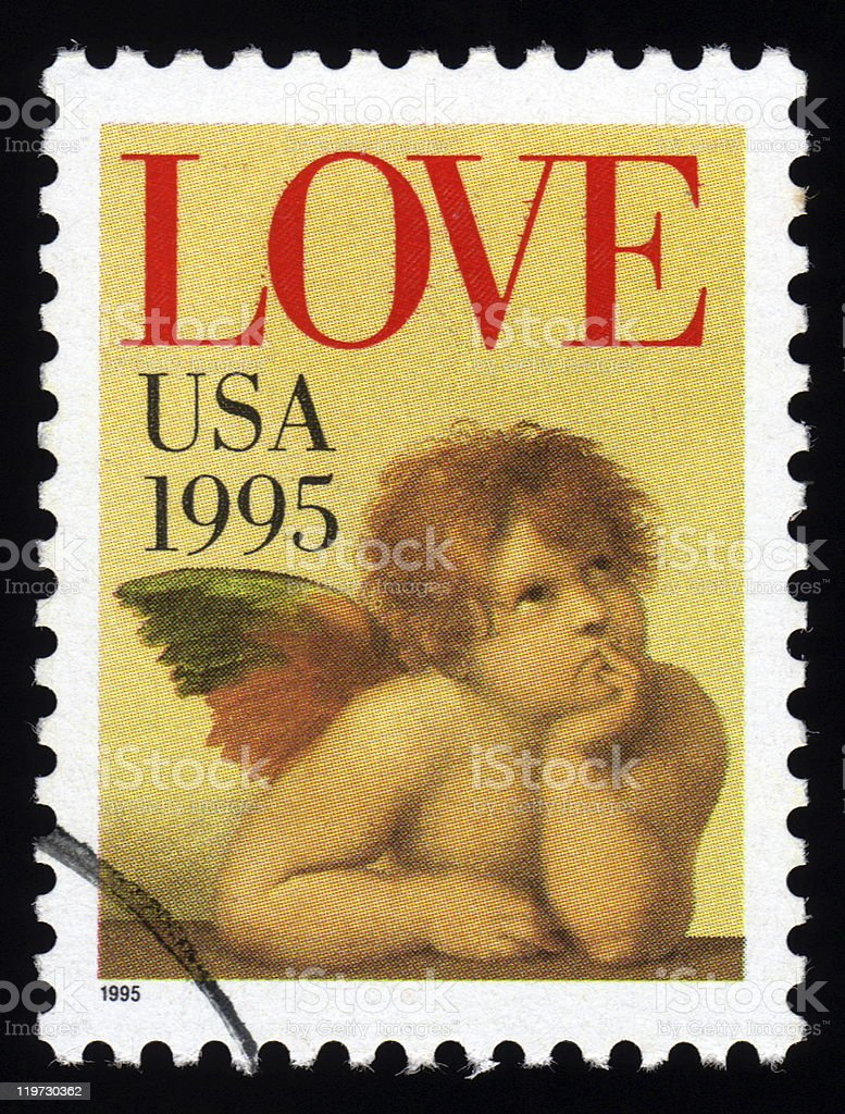 USA Love Postage Stamp stock photo