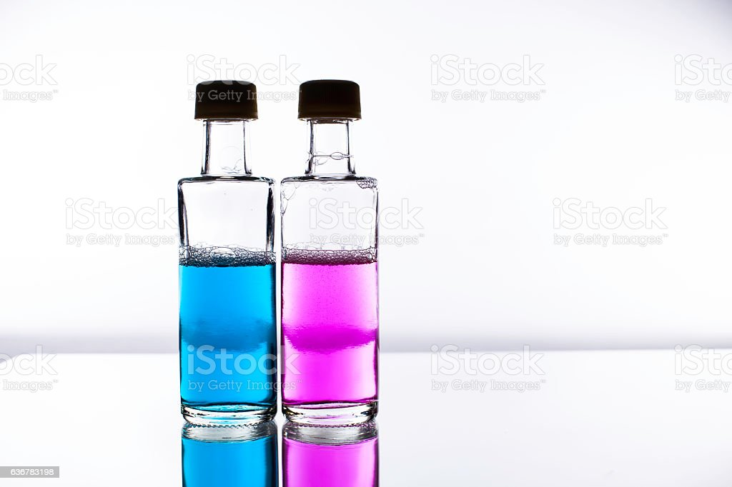 Love potion - the chemicals of sex selection stock photo