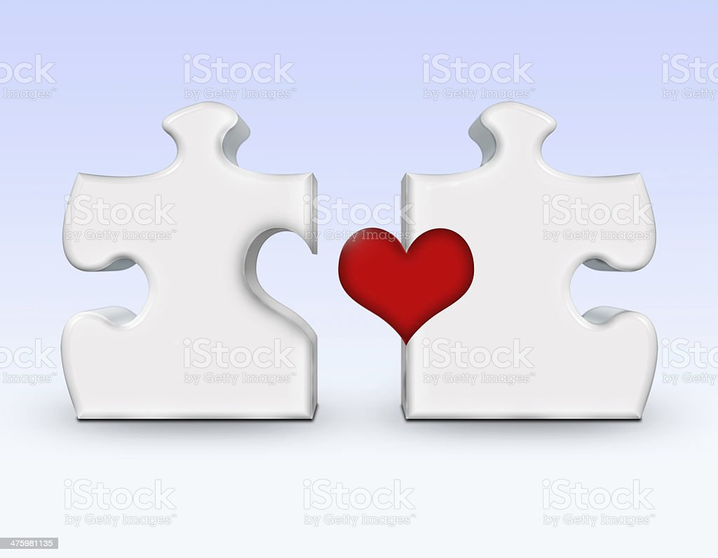 Love Puzzle royalty-free stock photo