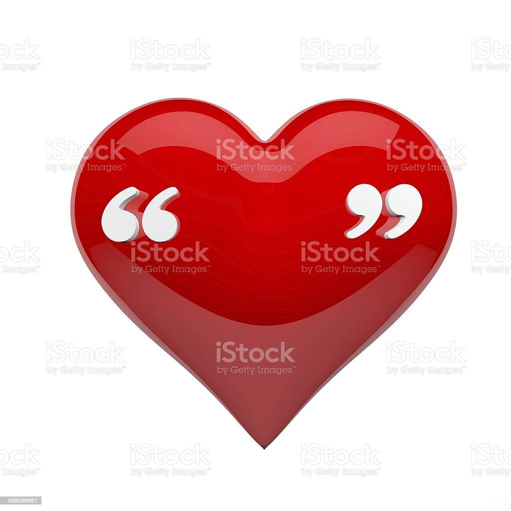 Love quote stock photo