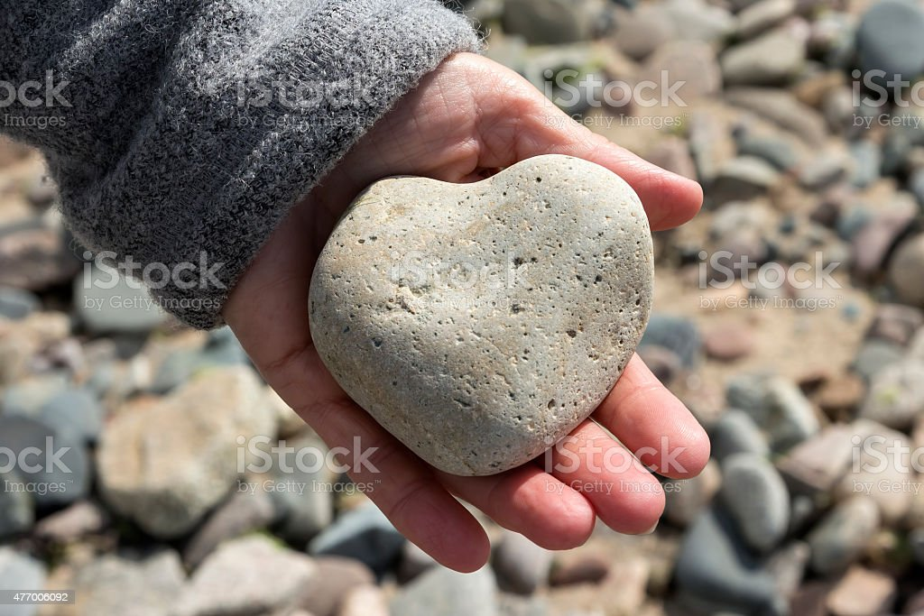 Love right in your hand royalty-free stock photo