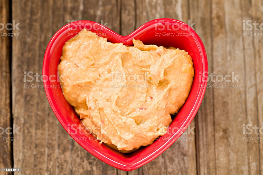I Love Roasted Red Pepper Humus stock photo