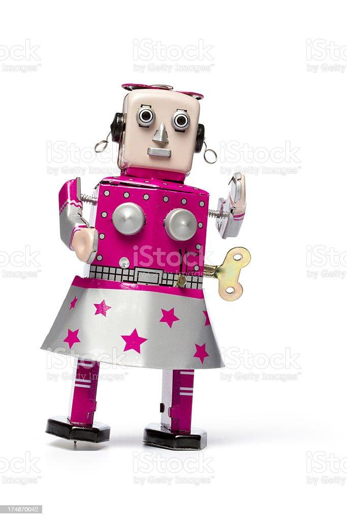 Love Robot - Retro Tin Woman Sex royalty-free stock photo