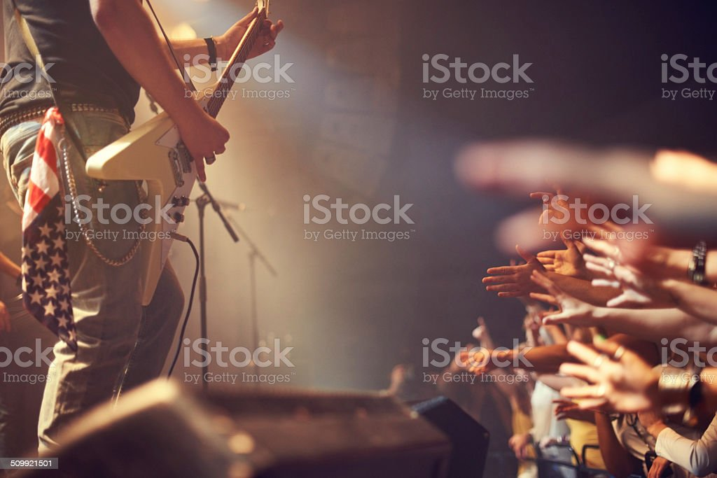 I love rock and roll stock photo