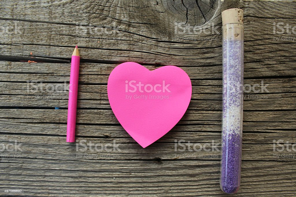 I love science concept stock photo