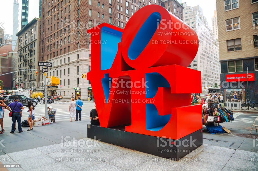 Love sculpture at 55th street in New York stock photo