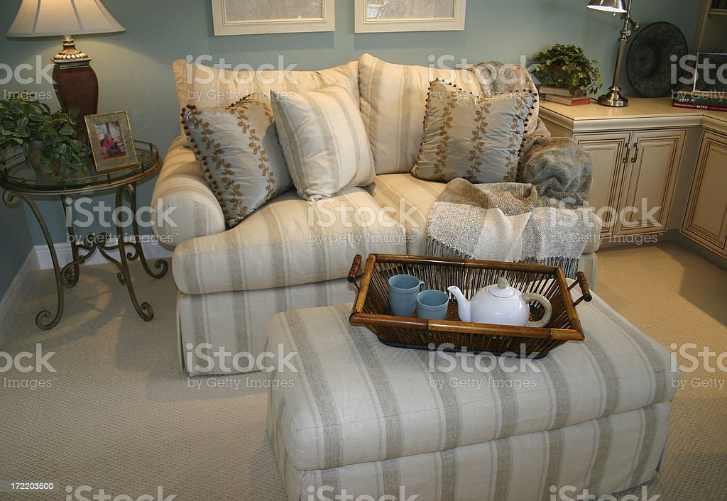 Love Seat and Ottoman royalty-free stock photo