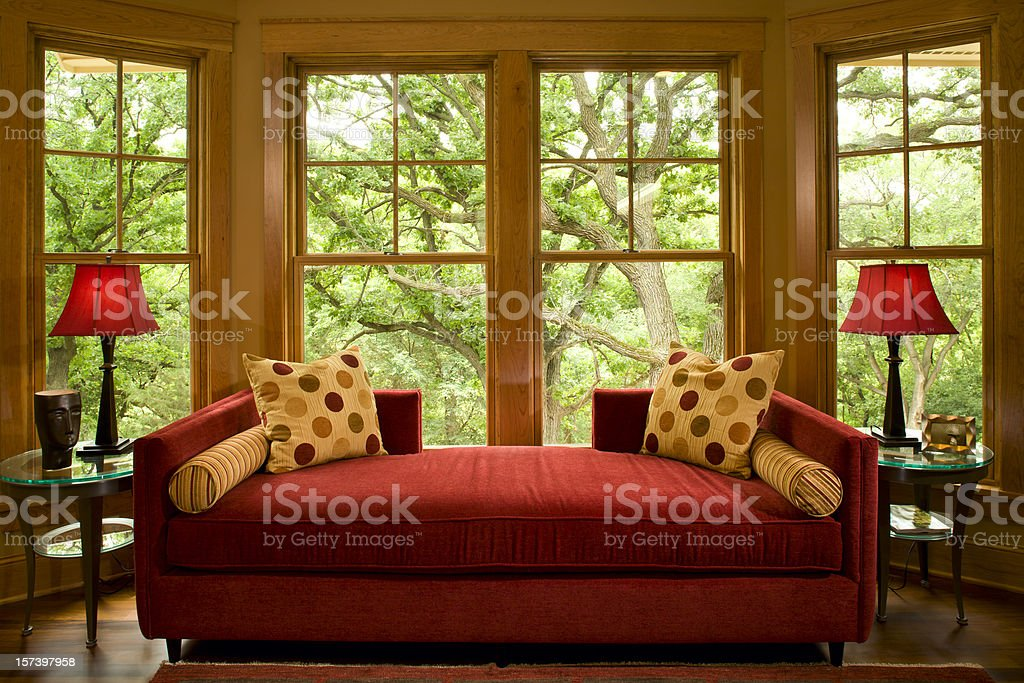 Love seat view. royalty-free stock photo